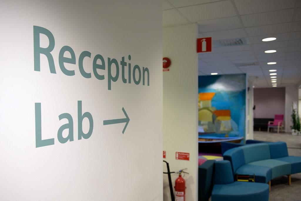 Reception, lab